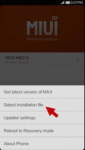 نصب فایل فلش Xiaomi