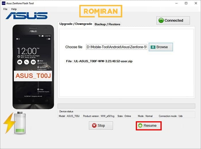 How to flash Asus phone